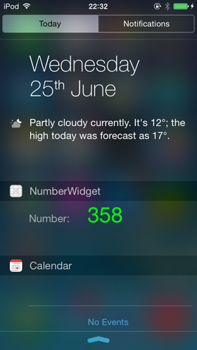 iOS 8 Today extension